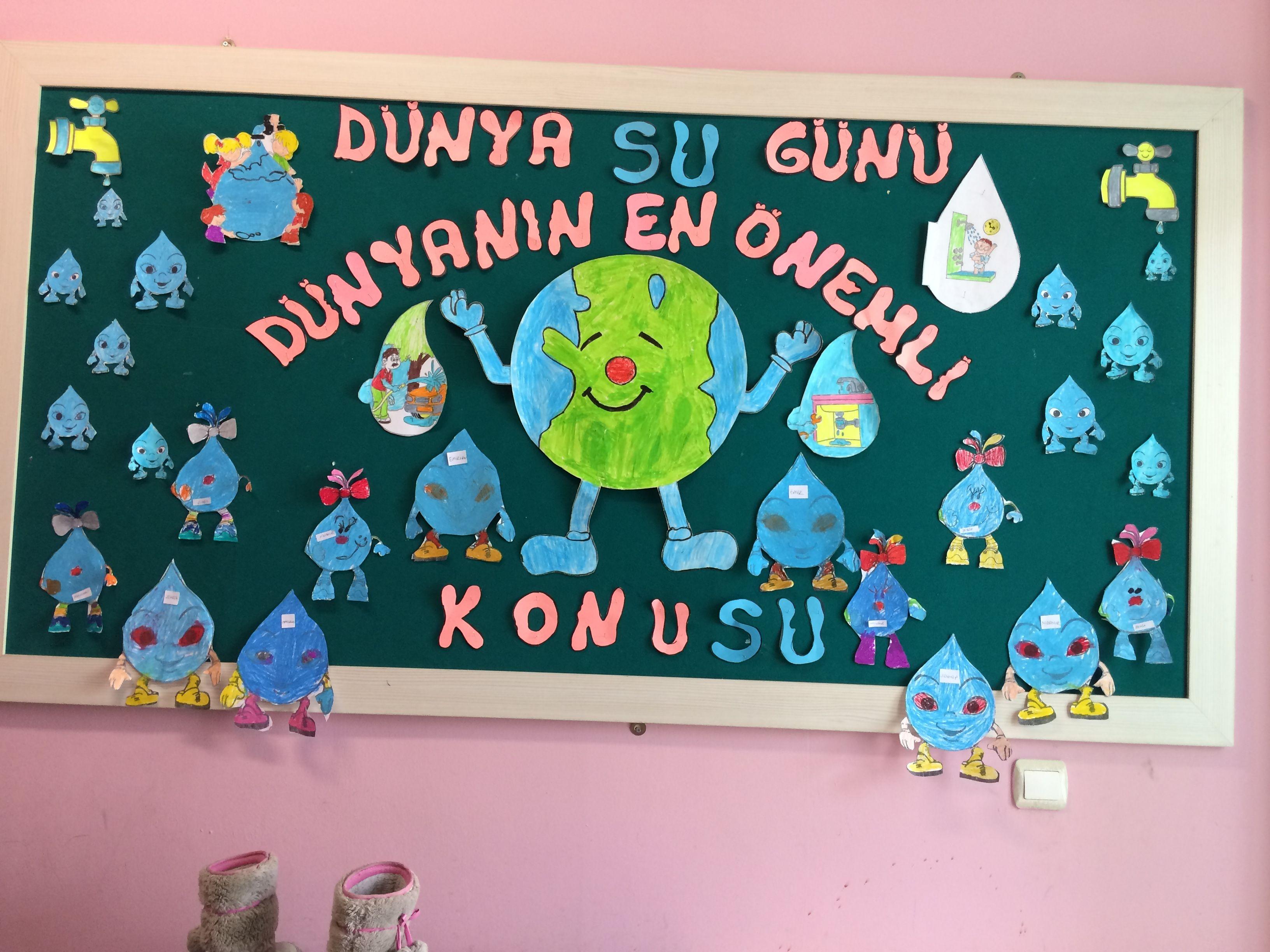 Dünya Su Günü Panosu Okul öncesi Panolar Crafts
