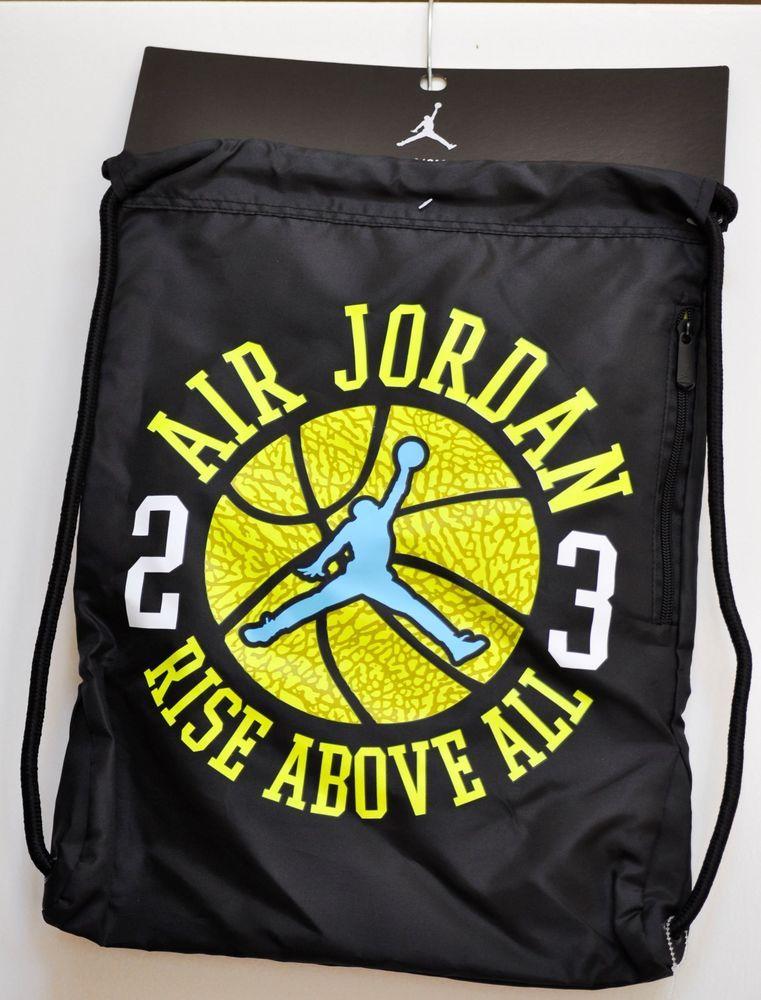 d0b714c40e84 Nike Air Jordan Jumpman Gym Sack Backpack Workout Drawstring Lightweight Bag   Nike  Backpack