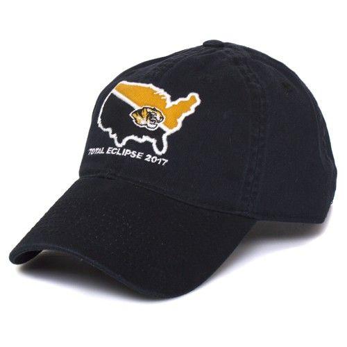 Mizzou Total Solar Eclipse 2017 Black Adjustable Hat  bd876bbae654
