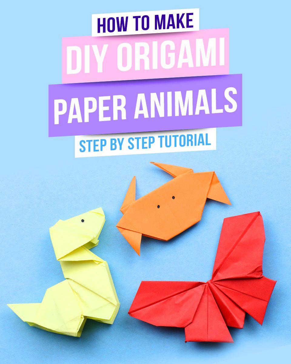 Photo of Wie man Origami-Papiertiere macht | 3 einfache Origami-Tiere, die Ideen machen | 92 Handwerk