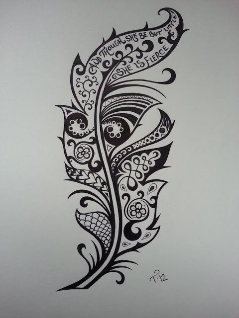 0e34c09cd The cute feather tattoo is inked in black and white and is a pretty simple  design without too much detail. Description from pinterest.com.