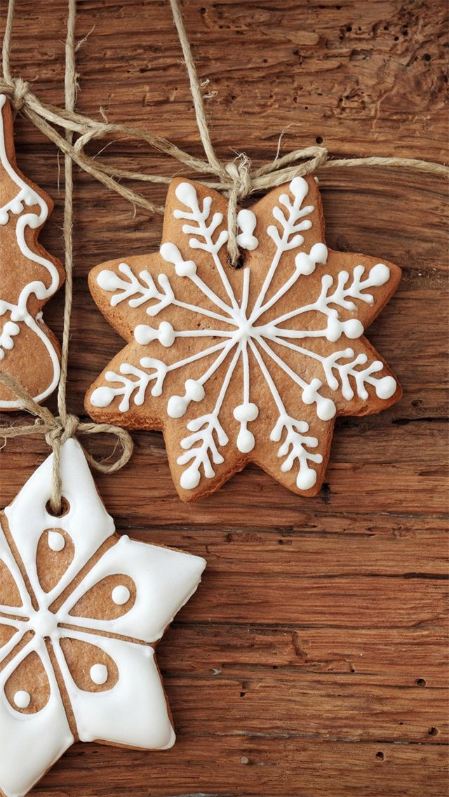 Christmas Baked Cookies iPhone 5 Wallpaper - http ...
