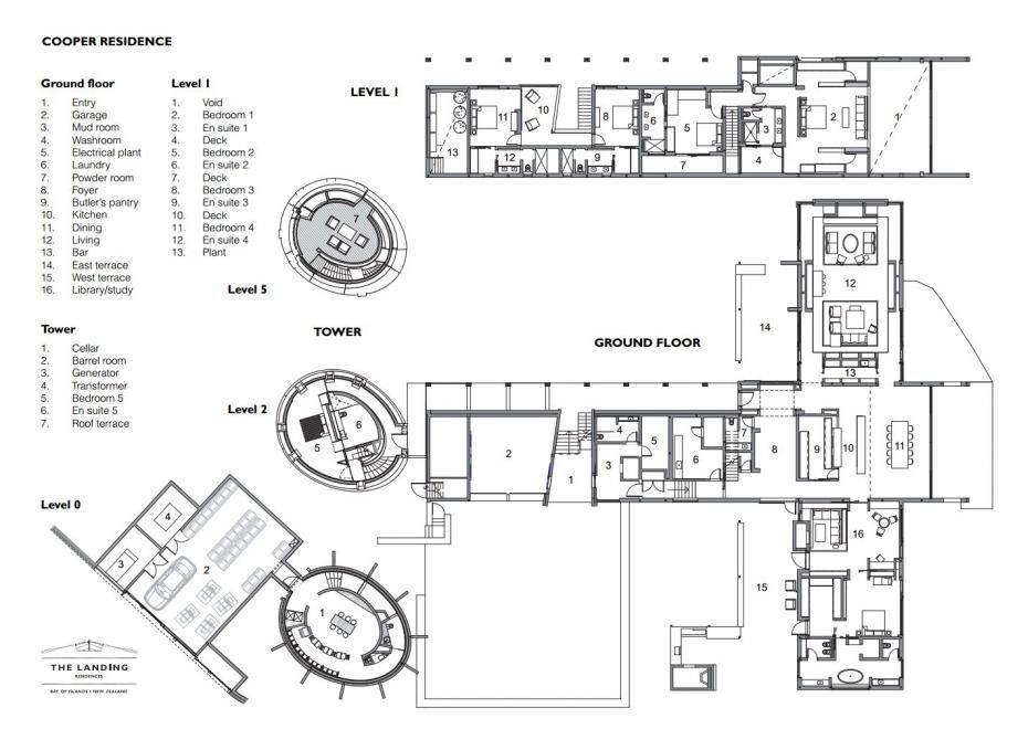 Cooper Residence The Landing Floor Plans Residences Garage Bedroom