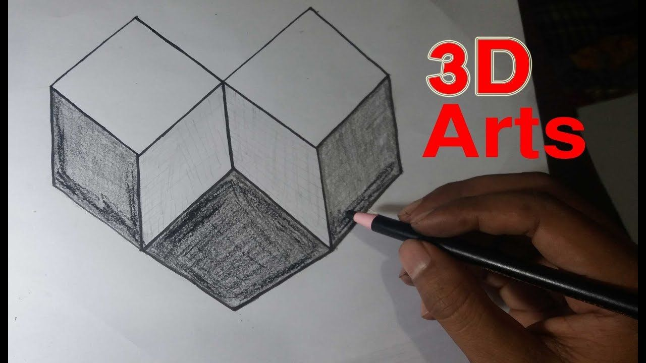 Very Easy How To Draw 3d Art On The Paper 3d Design 3d