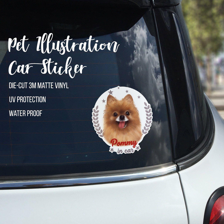 Pomeranian Car Stickers Pom Vinyl Decal Window Stickers Car Decal Pomeranian Decal Vinyl Stickers Bumper Stick Stickers Custom Car Stickers Car Decals Stickers [ 1500 x 1500 Pixel ]