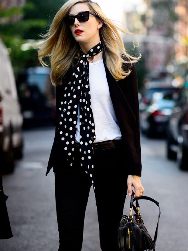 2354f70fa9a8 How to wear a skinny scarf this Fall