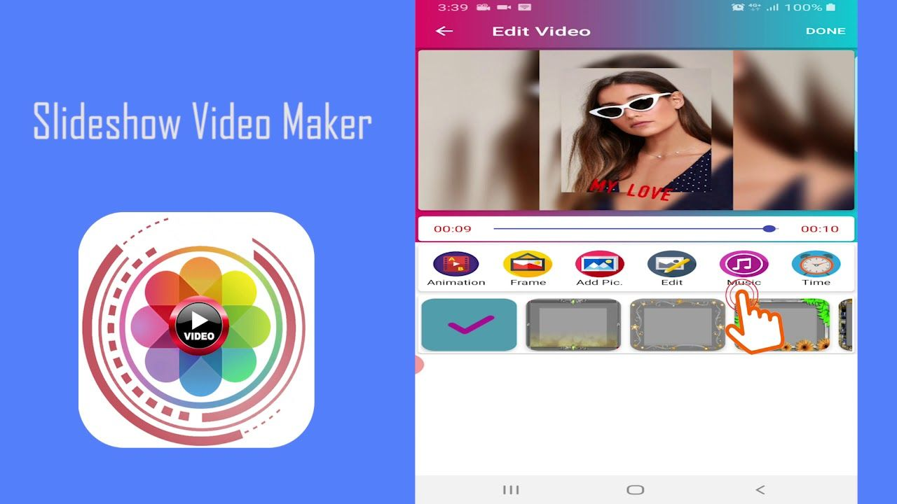 Free Slideshow Video Maker With Music For Android In 2020 Photo Music Video Video Maker With Music Video Maker