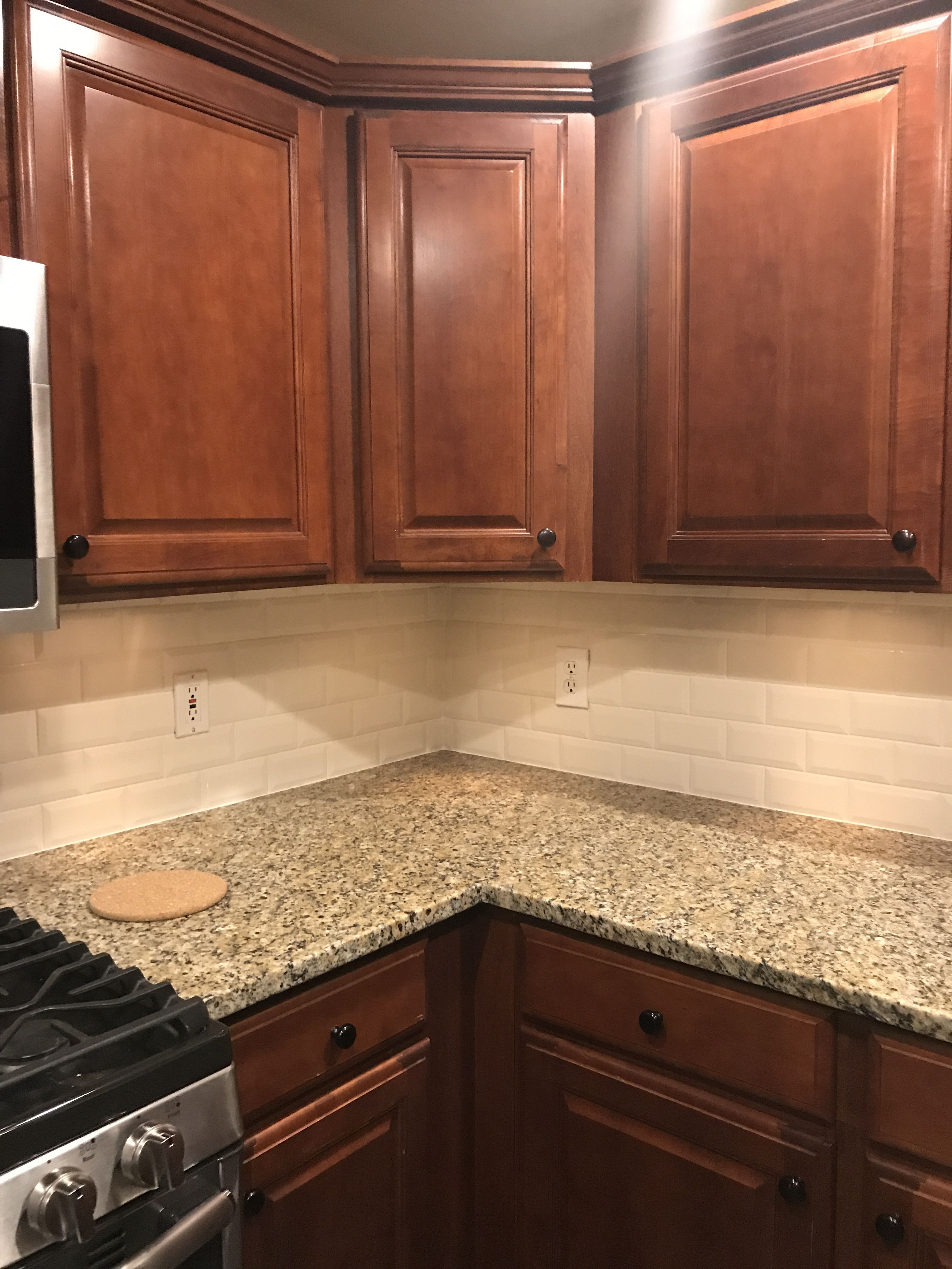 - Almond Glossy Beveled Tile (wayfair.com) With 1/16