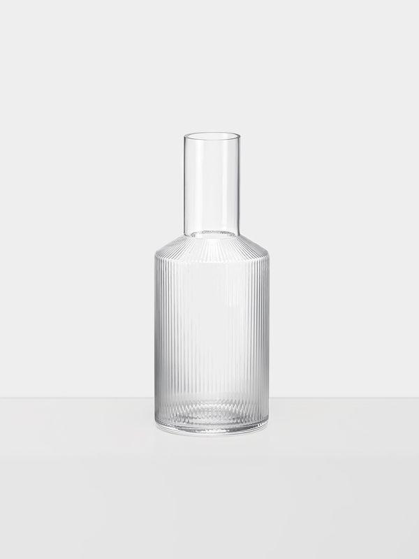 Ferm Living Glass Ripple Carafe - Trouva