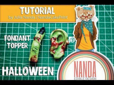 Halloween food ideas Halloween Cake Decorating (ear and finge
