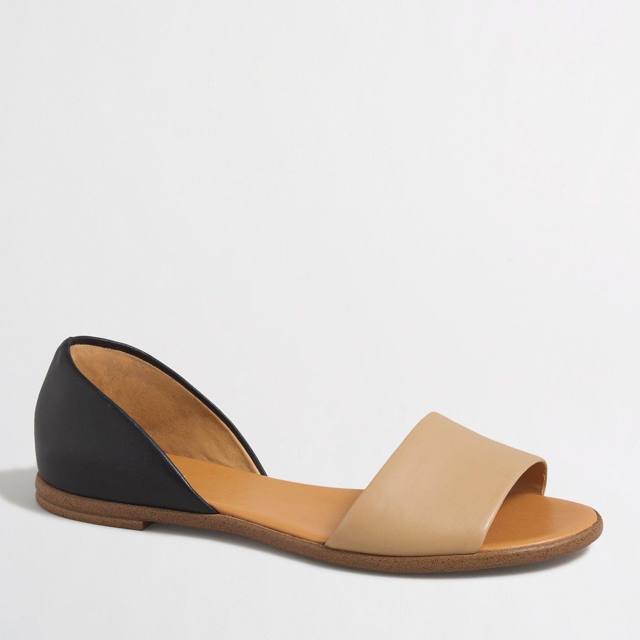 ff85156e336 Colorblock peep-toe d'Orsay flats : FactoryWomen Sandals | Shoe ...