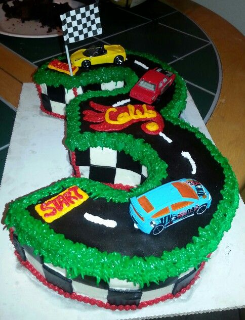 Astonishing Hot Wheels Cake With Images Hot Wheels Cake 3Rd Birthday Funny Birthday Cards Online Alyptdamsfinfo