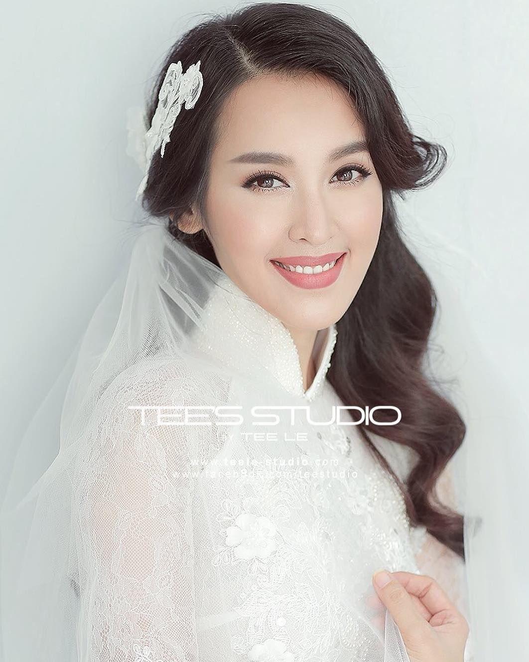 Pin by Wedamor on Bridal Makeup | Pinterest | Ao dai, Actresses and ...