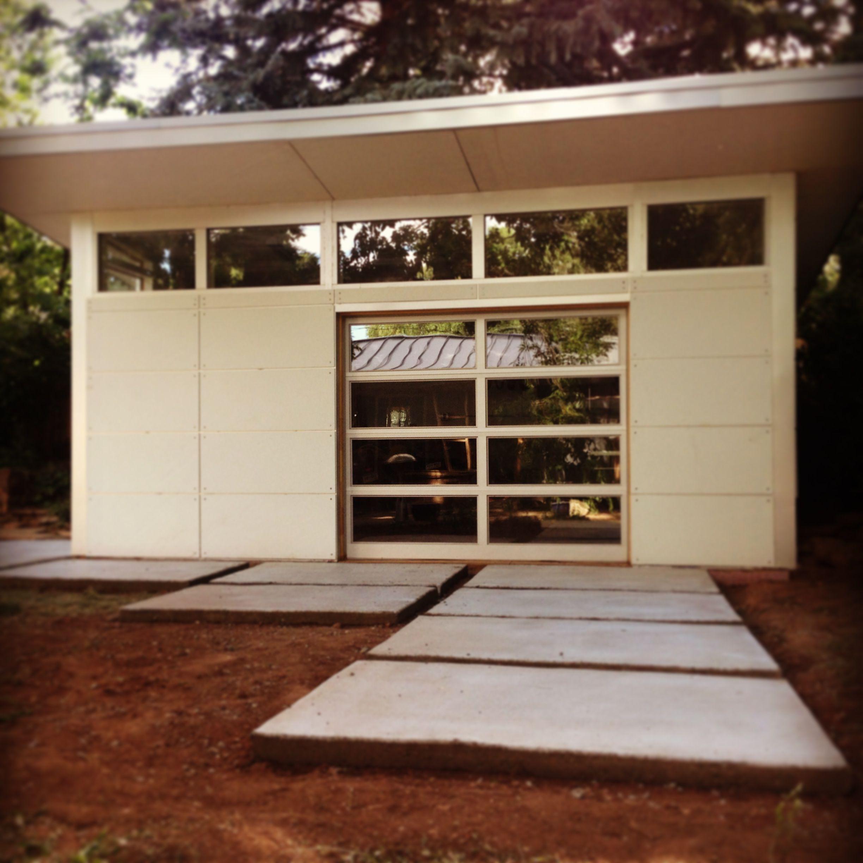 Studio shed garage door ideas for art