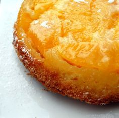 Orange Upside Down Cake – Orange Upside Cake Recipe – Dough is really thick. Could use more sugar over the oranges.