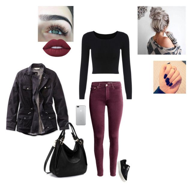 """Lunch Date"" by sonialicetmartinez ❤ liked on Polyvore featuring Puma, Lime Crime and L.L.Bean"