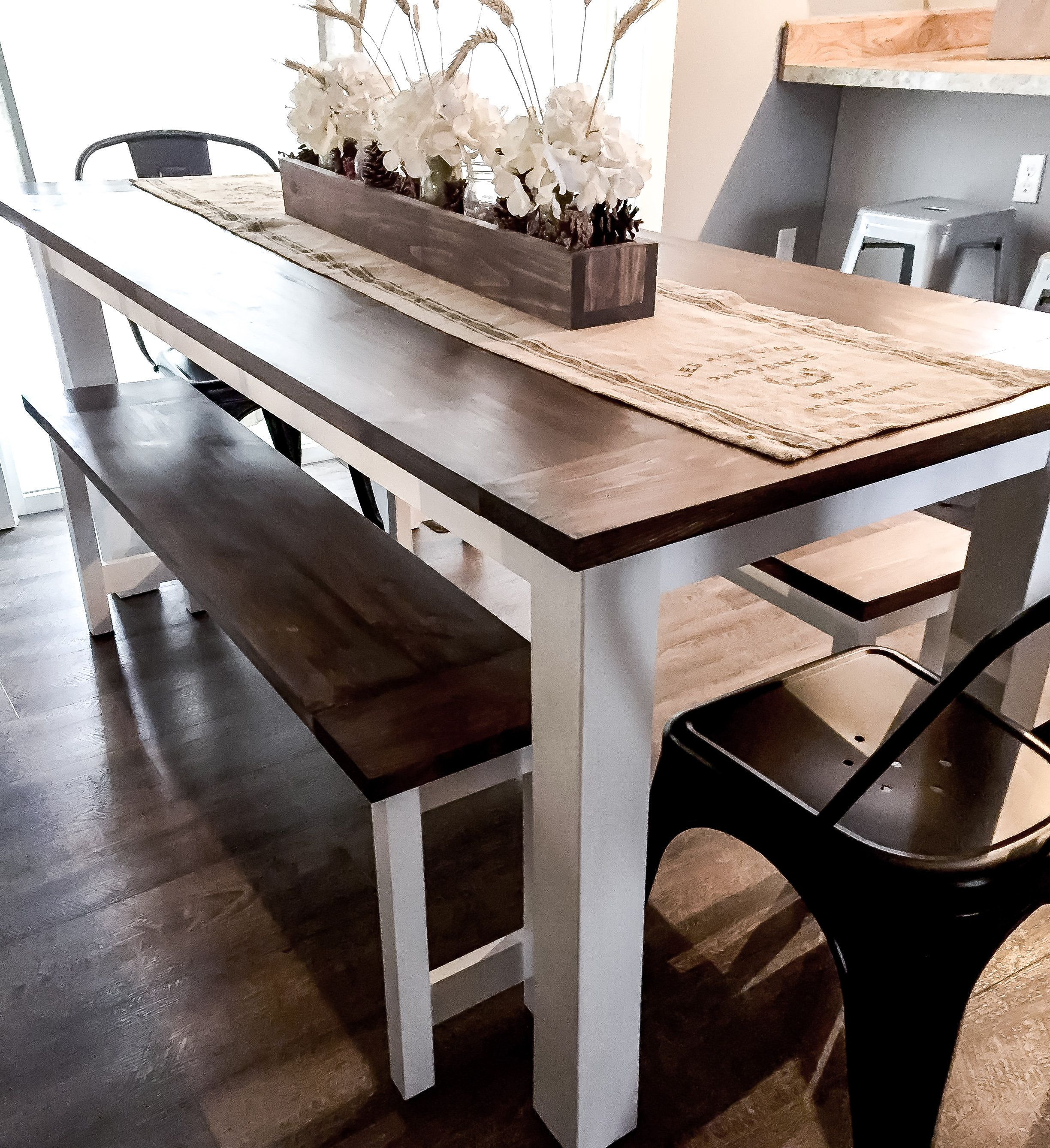 Diy Farmhouse Table Plans With Benches Woodworking Plans Diy