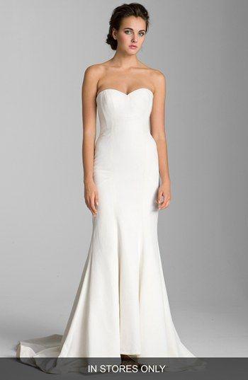 Nicole Miller \'Dakota\' Faille Trumpet Dress (In Stores Only ...