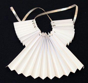 Easy Angel Crafts - Accordian Folded Paper Angel O