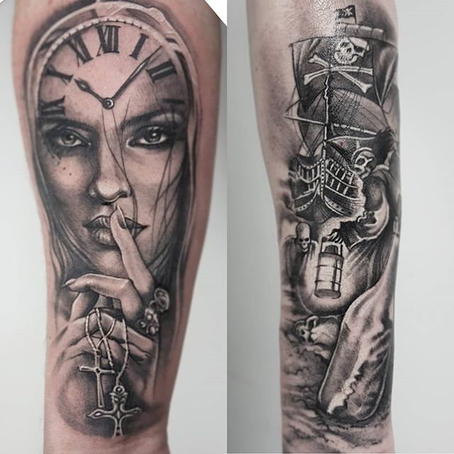 two from the week shhh woman tattoo forearm timepiecetattoo pocketwatch tattoo hotwomen. Black Bedroom Furniture Sets. Home Design Ideas