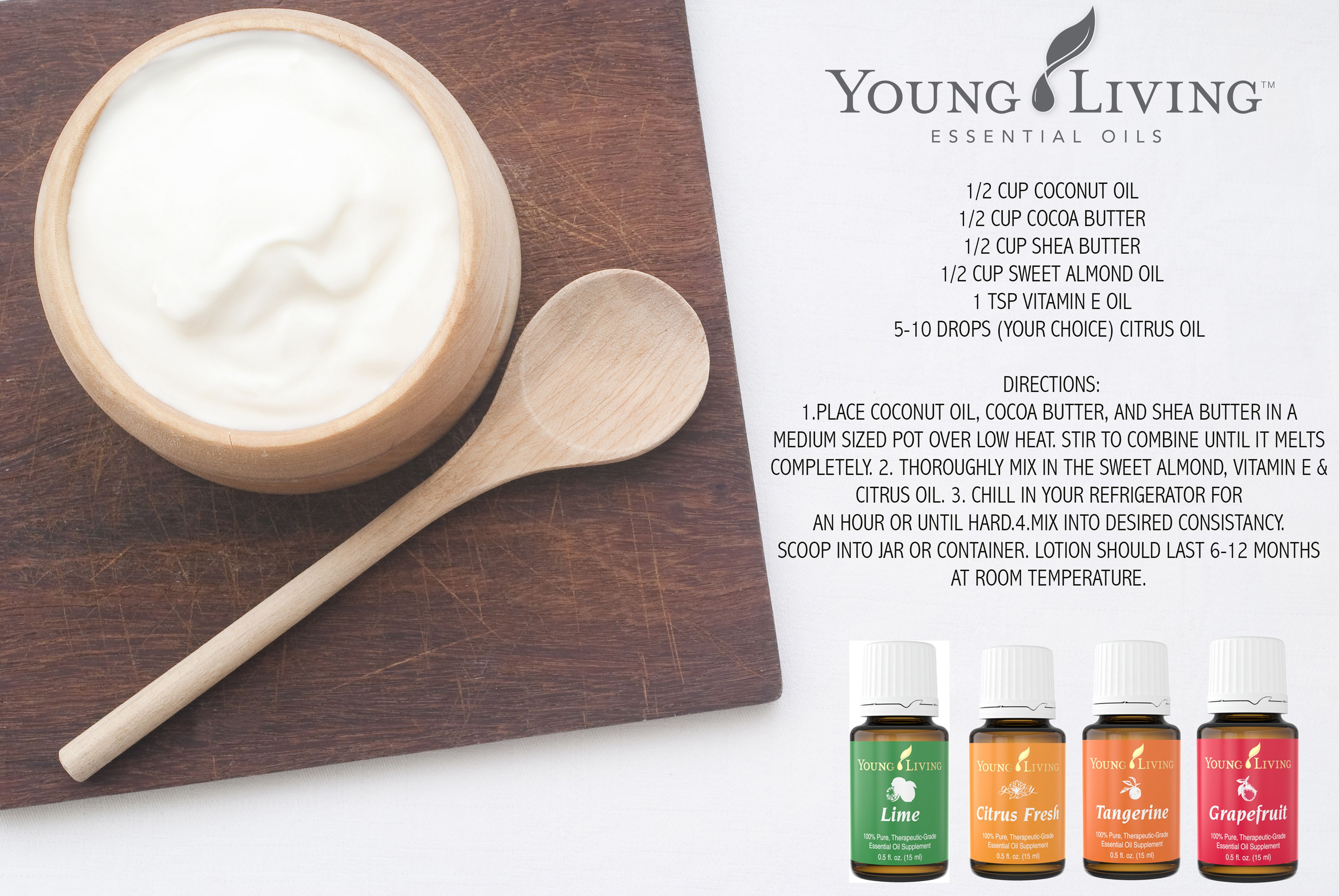 Diy lotion 12 cup coconut oil 12 cup cocoa butter 12