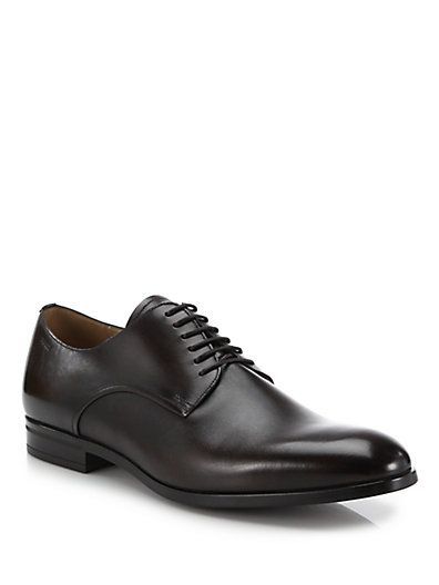 Coper Black, Mens calf leather derby shoe in black Bally