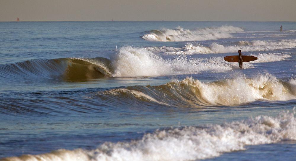 Surfer At Sandy Hook Nj After Coastal Storm Michael J Treola Photography Surfer Michael J Coastal