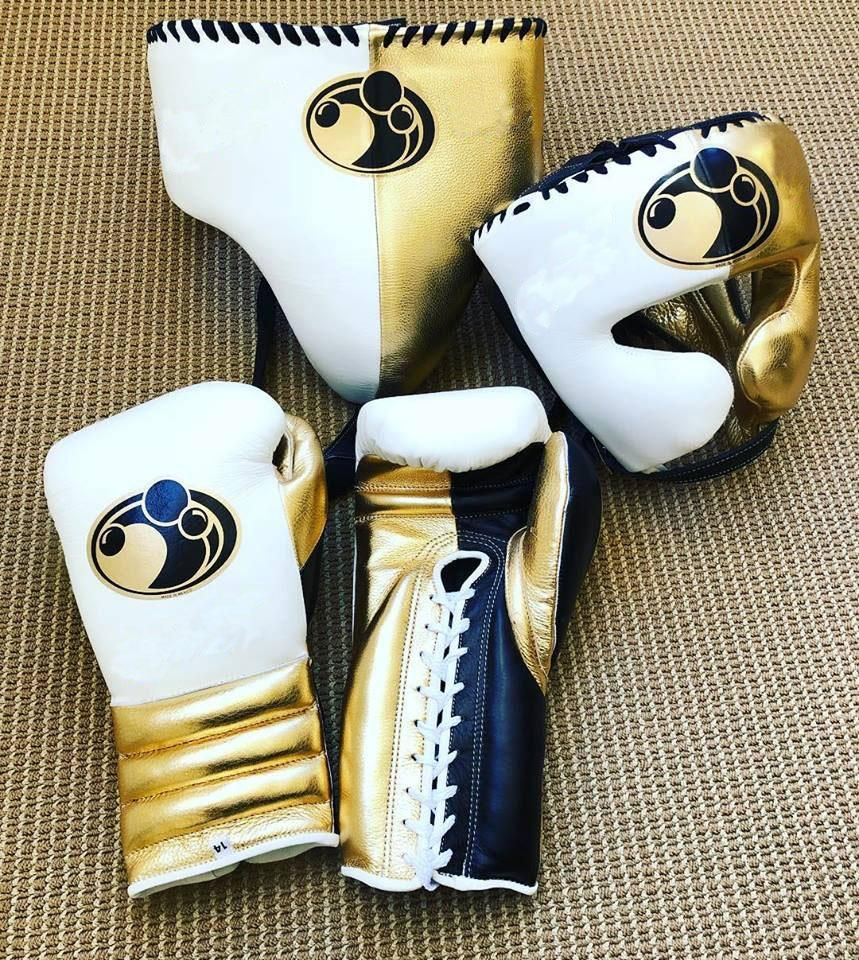 GRANT BOXING GLOVES COMPLETE SET PURE COWHIDE LEATHER Size