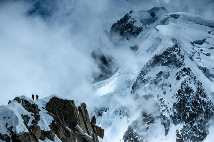 """""""there we were, on the slopes of Mont Blanc, nothing more than tiny dots immersed in an icy fairy tale"""""""