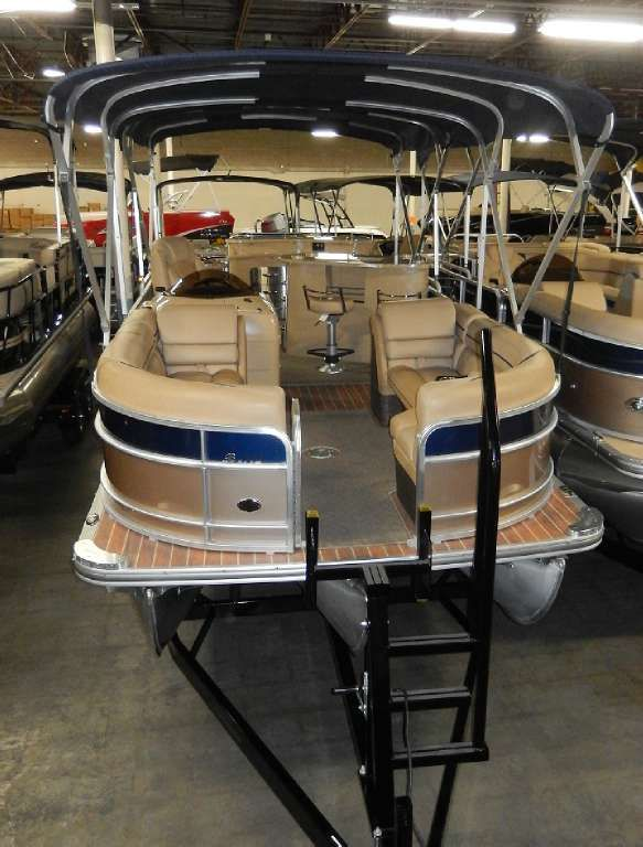 This Is A 2014 Berkshire 250 EU Pontoon, Equipped With A Mercury 150L EFI 4-Stroke Outboard, 150Hp. Includes BP1 Option Package, Center Tube Aluminum Underdeck, Double Bimini, Drain Plug In-Port Chaise, Full Teak Vinyl Floor, Lifting Strakes, Pre-Rig, Seastar Hydraulic Steering, Snap In 28 oz Infinity Carpet And SS Tow Bar. Trailer Is A 2014 Sportboat, Painted Black Tandem Axle. Hurry In To Get A Hold Of This Brand New Berkshire 250EU!!