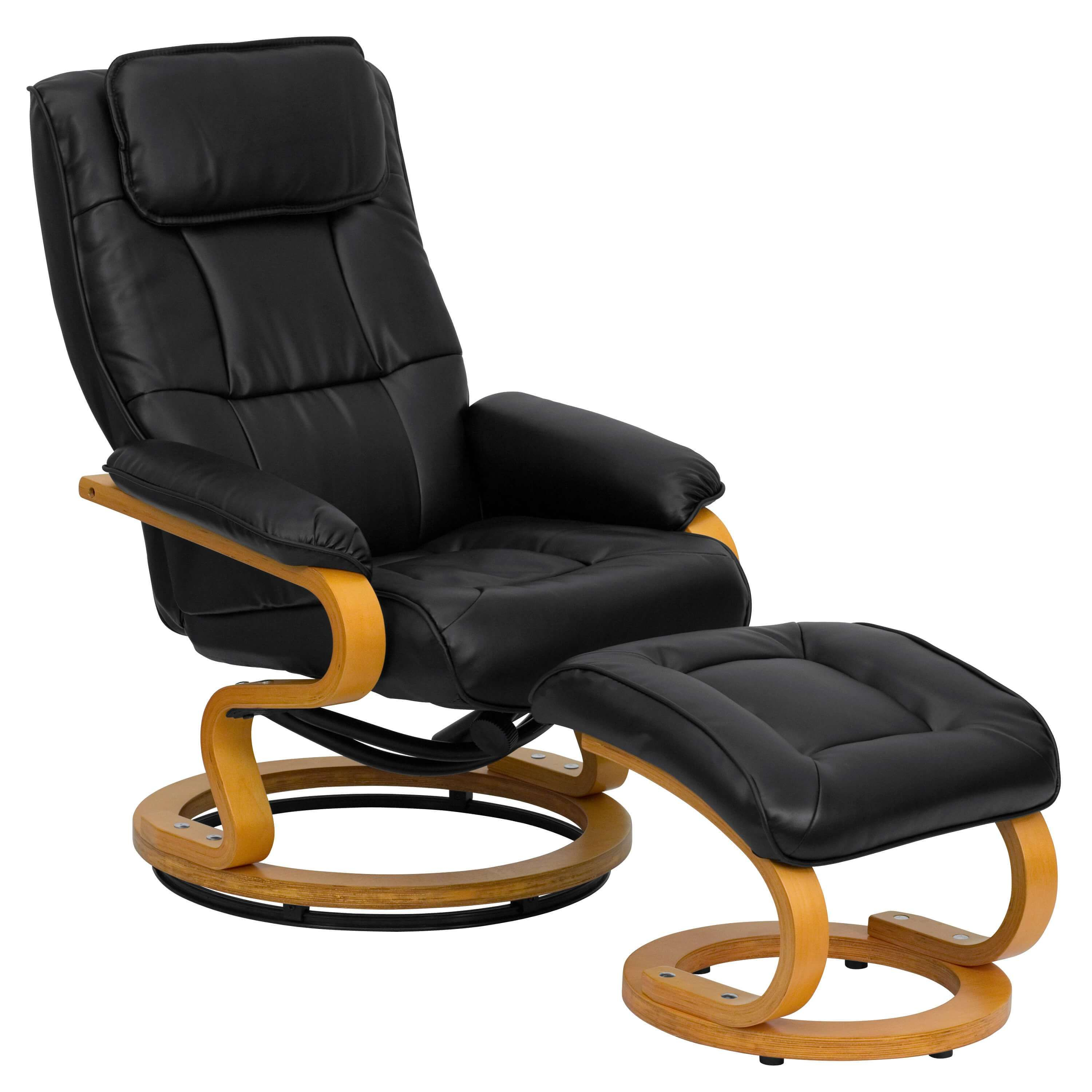 Fontana High Back Recliner Chair Brown Leather Recliner