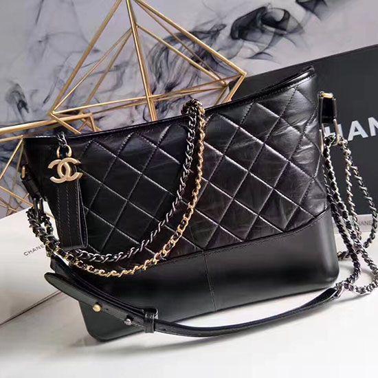 09fc2d95b0a8 Chanel Gabrielle Hobo Bag Black A93824