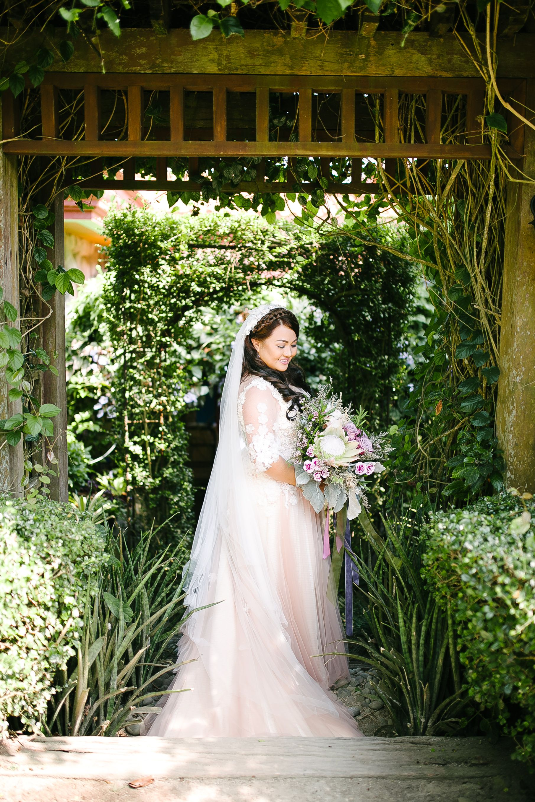 Blush Wedding Dress by Nino Angeles Philippines Fundacion Pacita ...