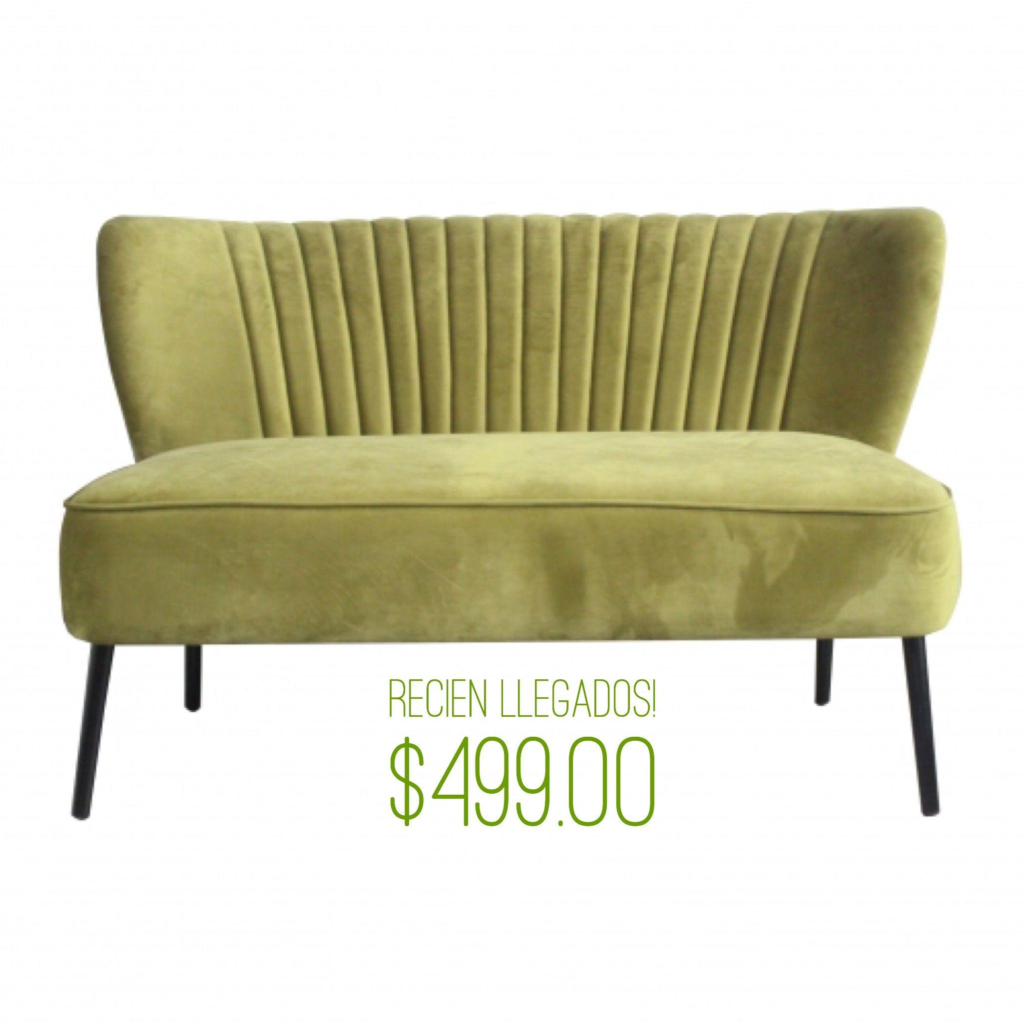 Hermoso sofá de dos puestos en terciopelo, disponible en color verde ...