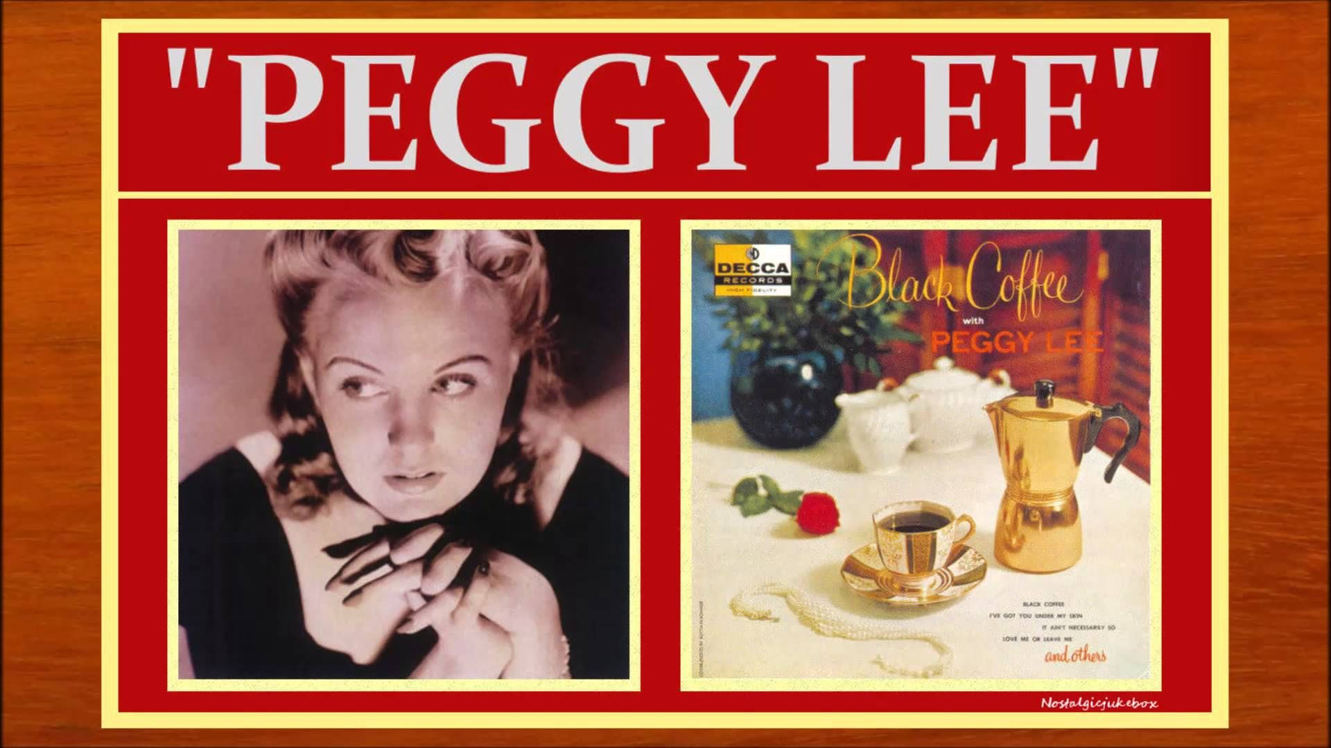 Peggy Lee  There's A Small Hotel ダディ