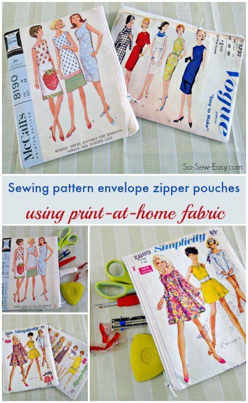 Vintage sewing pattern printable fabric purse | A Modern Thread ...