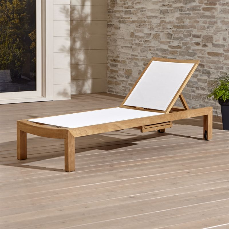 Shop Regatta Mesh Chaise Lounge. This Quality Teak Outdoor Furniture Is An  Investment That Can