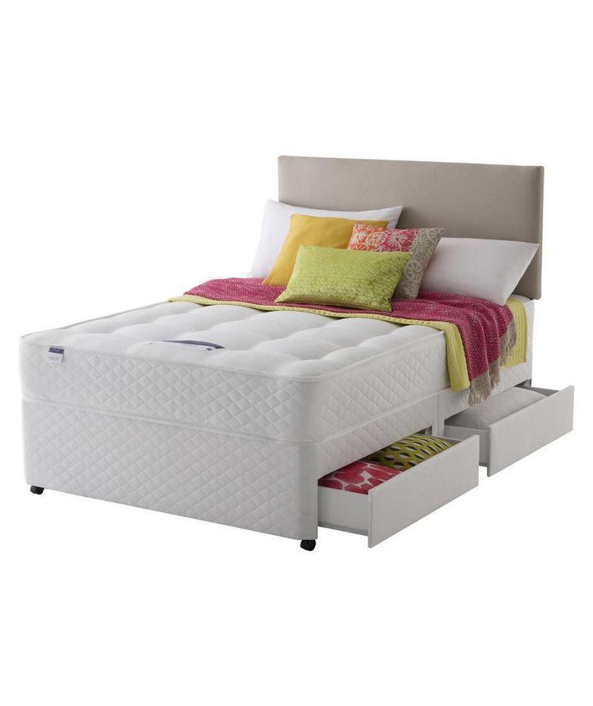 Buy Silentnight Mckenna Ortho Kingsize Divan Bed  Drawers At Argos Co Uk