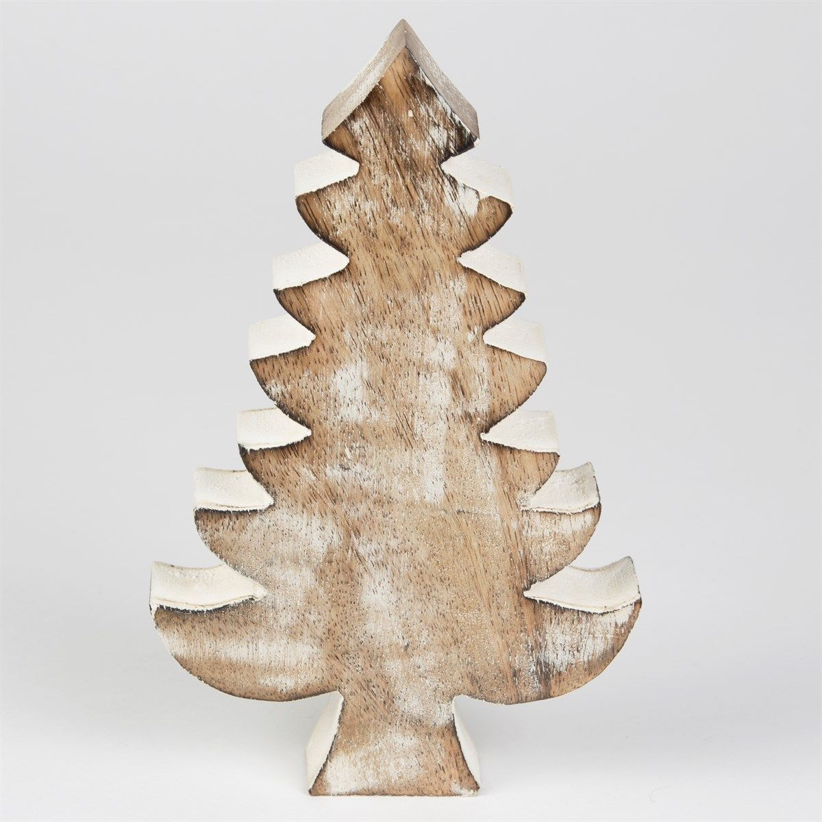 Rustic white wooden christmas tree festive decoration home dec