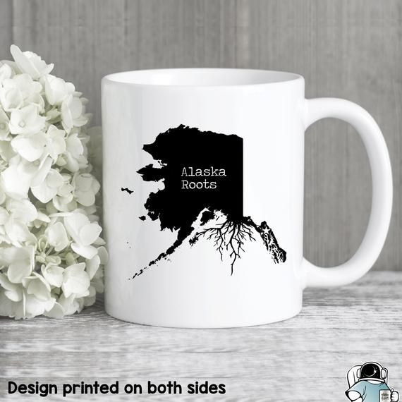 Alaska Mug, Alaska Gift, Alaska Map, Alaska Coffee Mug, Alaska State Mug, Alaska Roots, Alaska Roots
