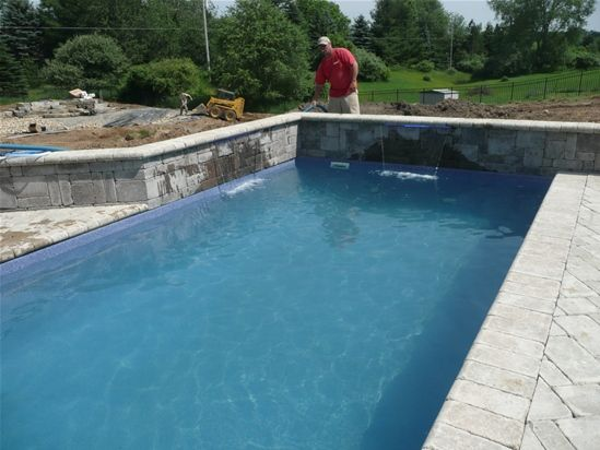 SWIMMING POOLS HIGHLAND WHITE LAKE MILFORD COMMERCE MI Fiberglass Swimming Pool