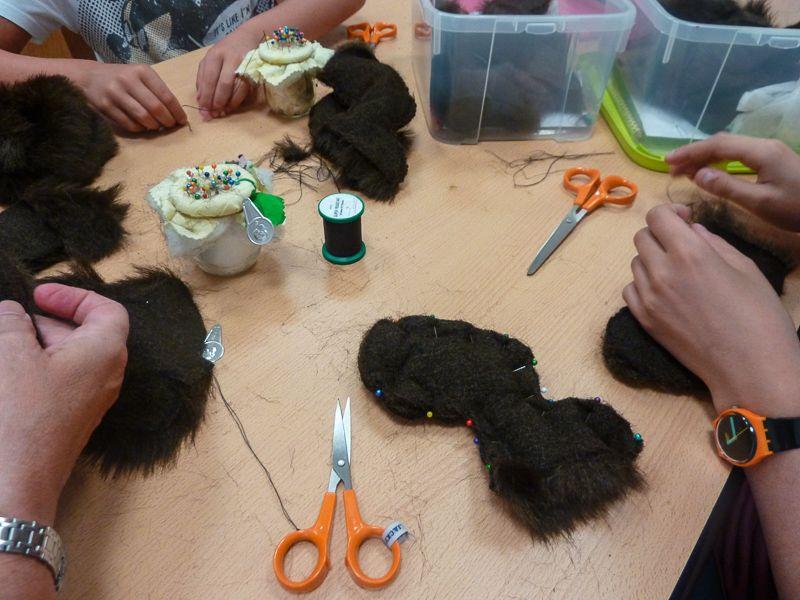 Dans le cadre des animations d'été de la Ville de Colmar, une dizaine d'enfants ont participé à l'atelier ours animé par les bénévoles de l'association.