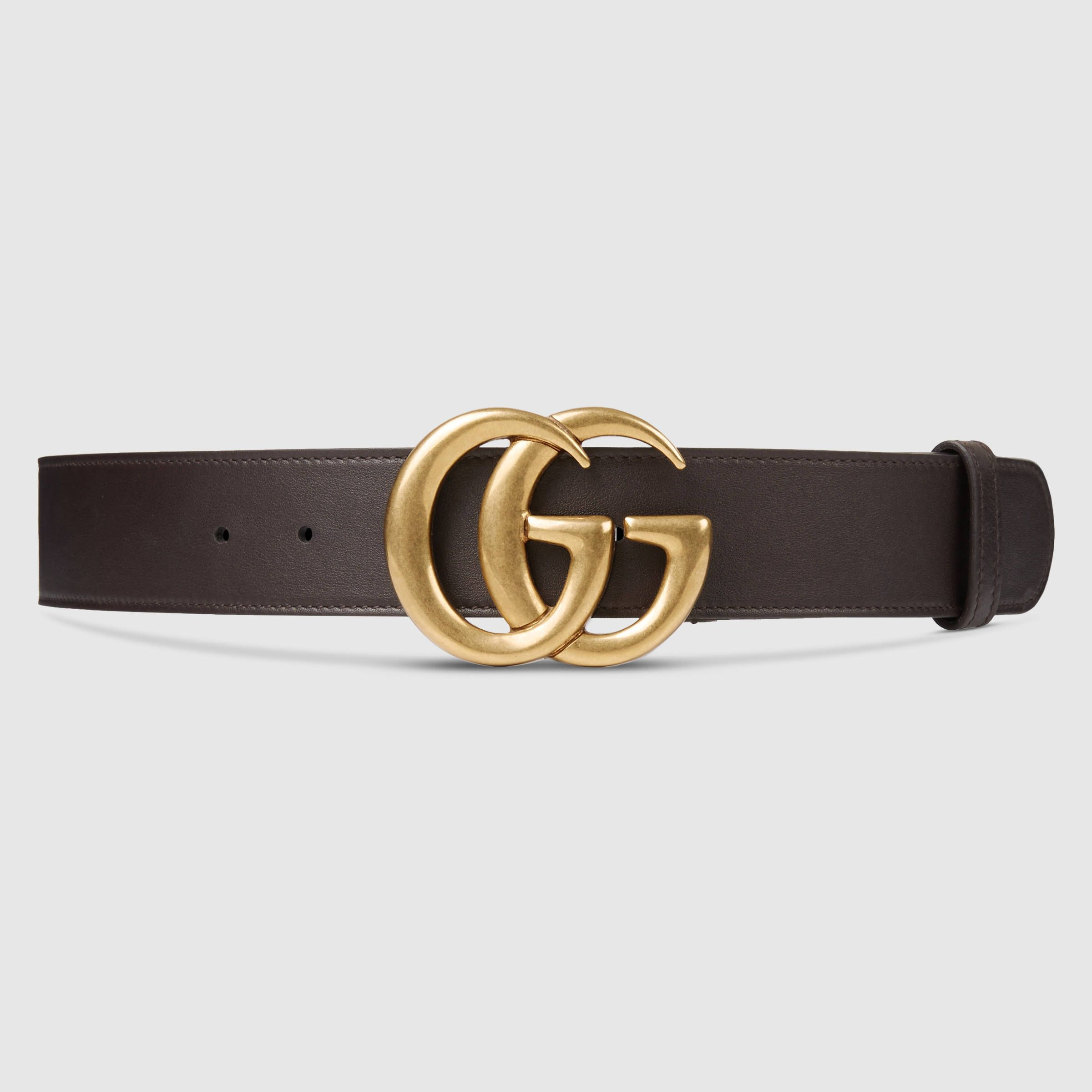 c60dda7a6bb Leather belt with Double G buckle. Gucci Women ...