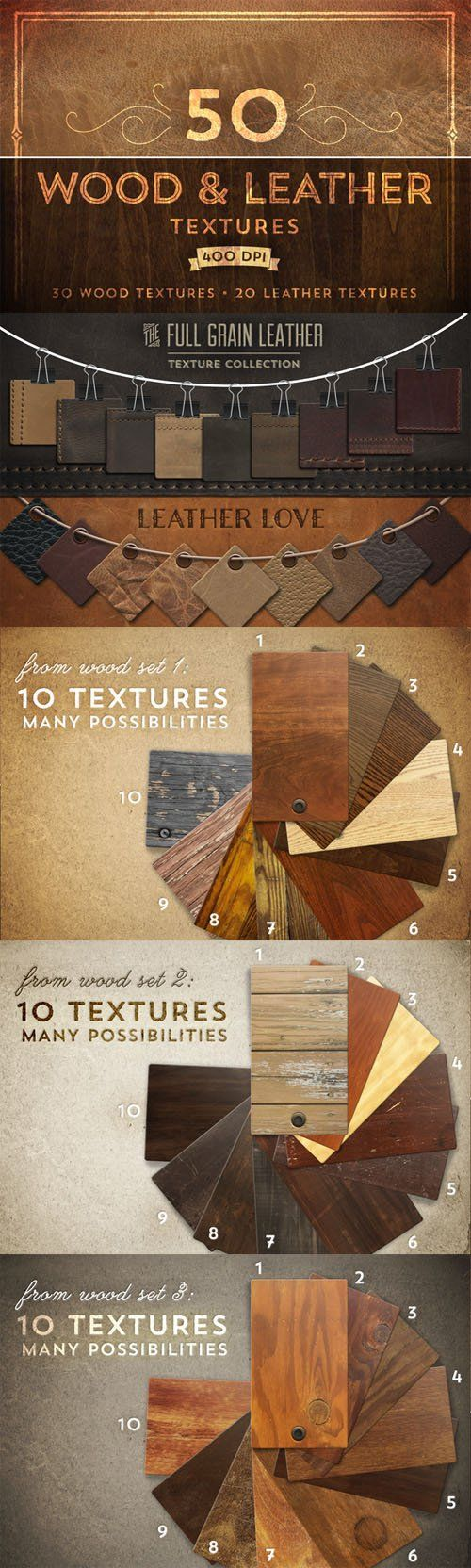 50 Wood and Leather Textures » Vector, PSD Templates, Stock Images, After Effects, Fonts, Web Design, Indesign
