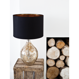 Beautiful Floral Glass Lamp and Shade