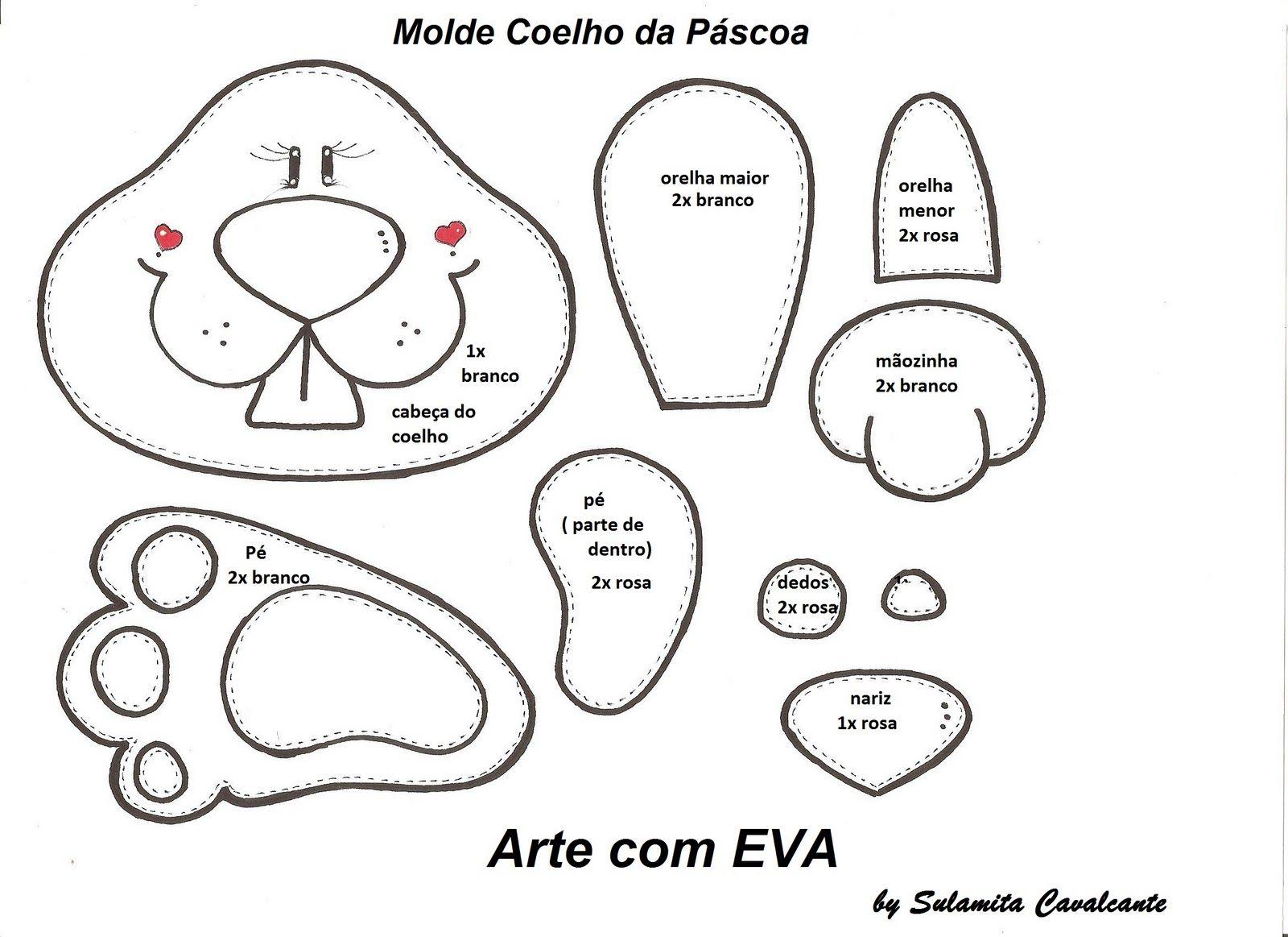 pascoa4 | Moldes | Pinterest | Pascua, Conejo de pascua y Moldes