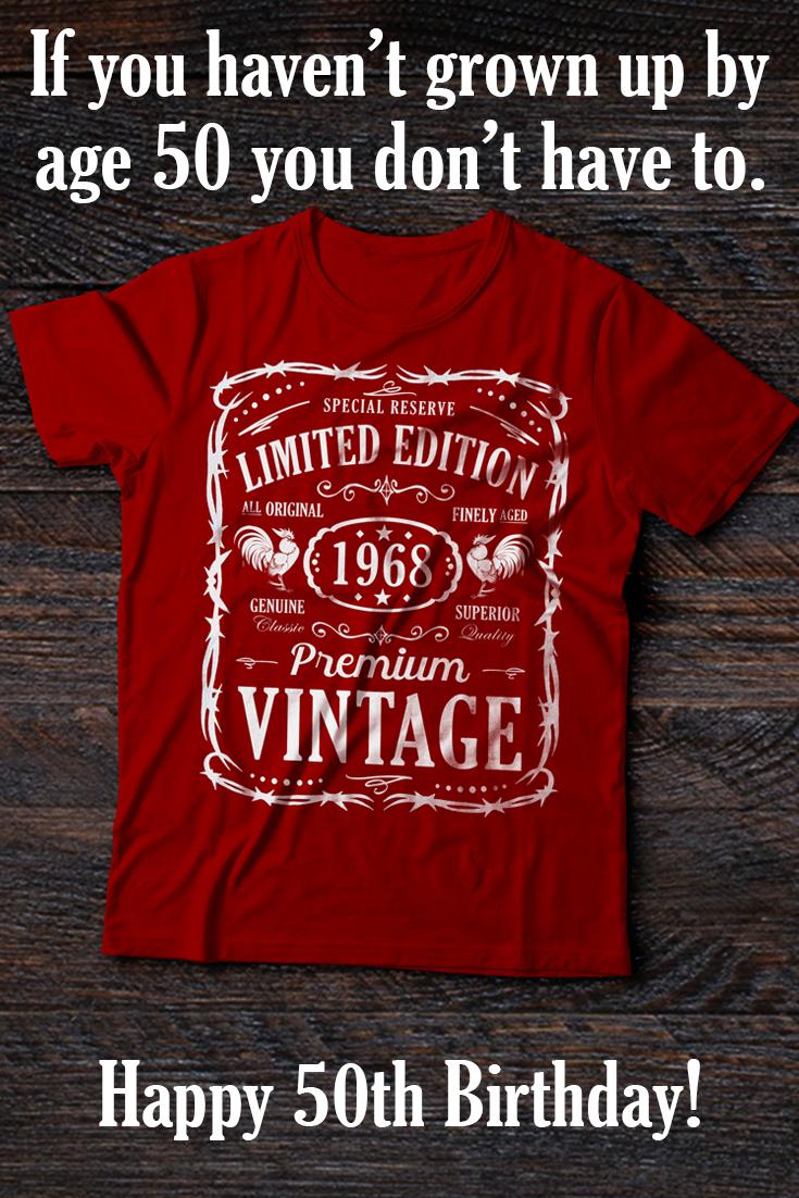 Happy 50th Birthday This Vintage Genuine 1968 Series Tshirt Limited Edition All Original