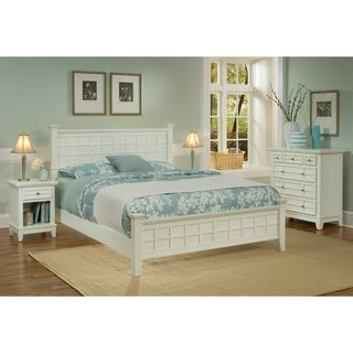 arts u0026 crafts white 3piece queensize bedroom set by home styles