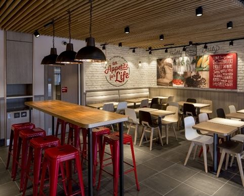 fast food restaurant chain kfc is launching a radical new design rh pinterest com interior design concepts for small fast food restaurant interior design small fast food