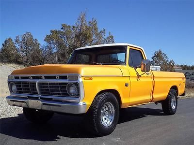 1973 Ford F100 Yellow Custom Pickup Truck Best Truck Ford